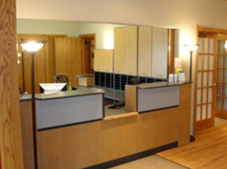 reception desk at medical facility